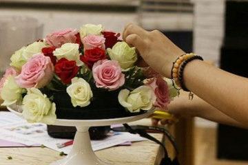 Nghệ thuật cắm hoa tươi ngày tết đơn giản