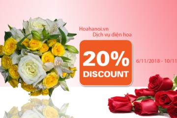 Khuyến mãi giảm giá hoa tươi