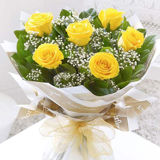 Tặng hoa hồng vàng 1
