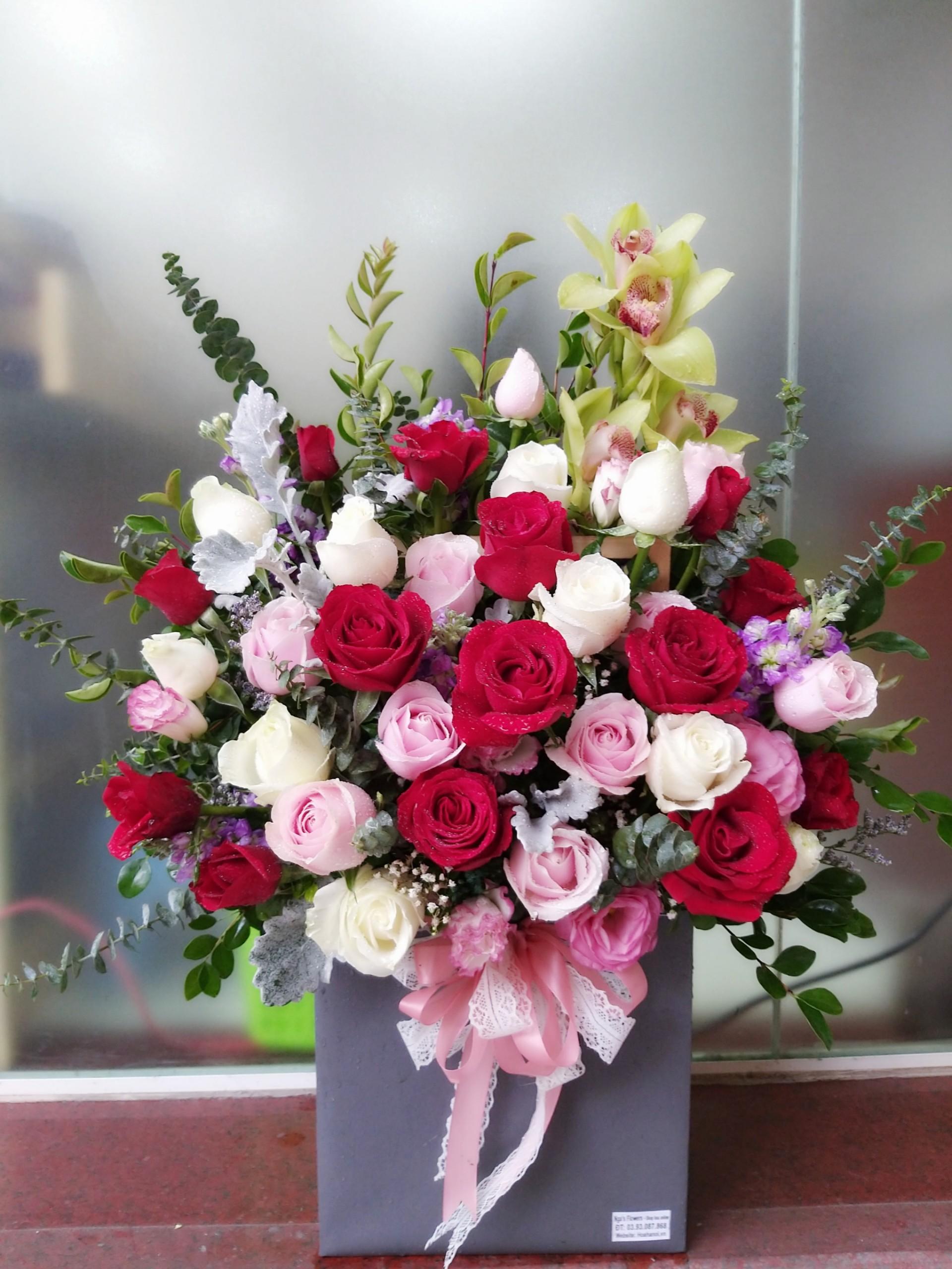 Giỏ hoa - MS296 1