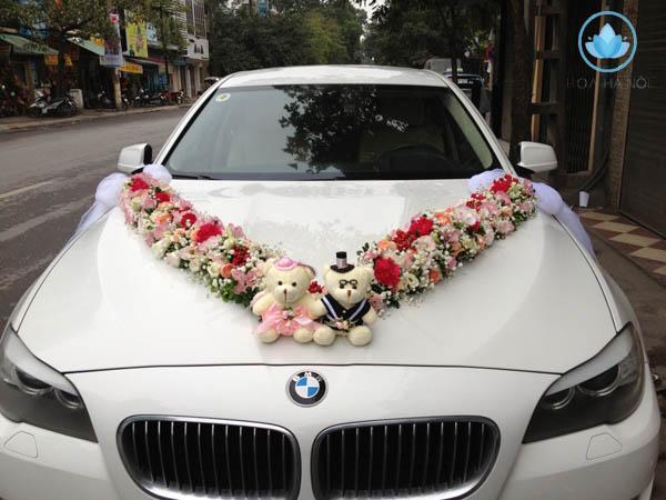 Trang trí xe hoa kết hợp phụ kiện xinh xắn dễ thương 2